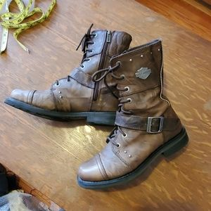 Harley Davidson leather boots 8.5